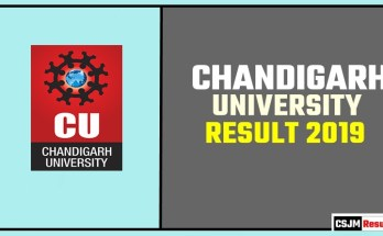 Chandigarh University [CU] BA BSC BCOM Result 2019