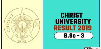 Christ University BSc 3rd Year Result 2019
