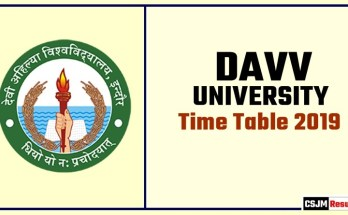 DAVV Time Table 2019 Devi Ahilya University BA BSc BCom Exam Date Sheet