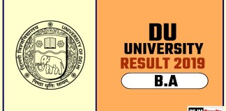 DU BA 1st 2nd 3rd Year Result 2019 Delhi University
