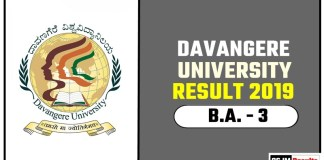 Davangere University BA 3rd Year Result 2019