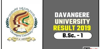 Davangere University BSc 1st Year Result 2019