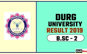 Durg University BSC 2nd Year Result 2019