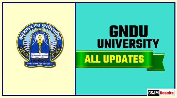 GNDU Result Time Table Admit Card Admission