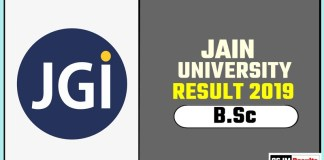Jain University BSc 1st 2nd 3rd Year Result 2019