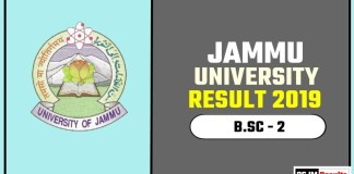 Jammu University BSC 2nd Year Result 2019