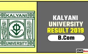 Kalyani University BCom 1st 2nd 3rd Year Result 2019