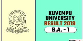 Kuvempu University BA 1st Year Result 2019