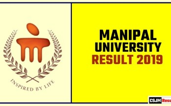 Manipal University Result 2019 BA BSc BCom
