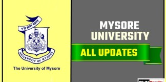 Mysore University Result Time Table Admit Card Admission