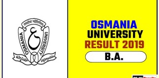 Osmania University BA 1st 2nd 3rd Year Result 2019