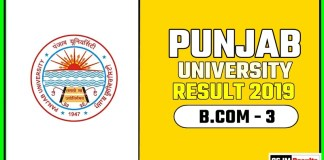 PUCHD BCOM 3rd Year Result 2019 Pujab University