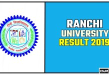 Ranchi University BA BSC BCOM Result 2019