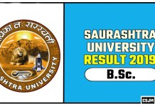 Saurashtra University BSc 1st 2nd 3rd Year Result 2019