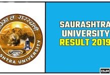 Saurashtra University Result 2019