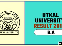 Utkal University BA 1st 2nd 3rd Year Result 2019