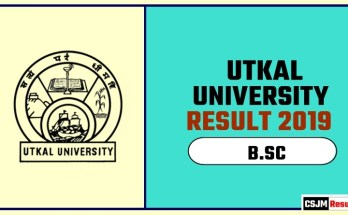 Utkal University BSC 1st 2nd 3rd Year Result 2019