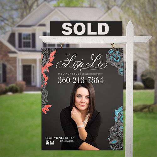 Lisa Le Properties Lawn Sign