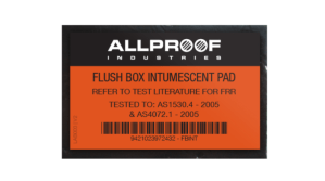 Flush Box Intumescent Pad