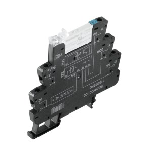 Relay module, 24 V DC ±20 %, Green LED, Free-wheeling diode, Reverse polarity protection, 1 CO contact (AgNi) , 250 V AC, 6 A, Screw connection