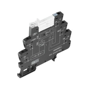 Relay module, 230 V UC ±10%, Green LED, Rectifier, 1 CO contact (AgNi 5µm Au) , 250 V AC, 6 A, Screw connection