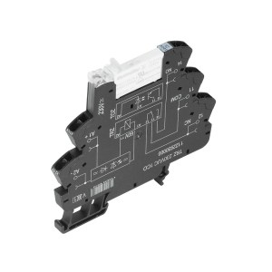 Relay module, 24…230 V UC ±10 %, Green LED, Rectifier, 1 CO contact (AgNi) , 250 V AC, 6 A, Tension-clamp connection