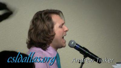 "Andrew Tinker singing ""God is so Good"""