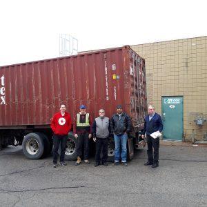 Ethiopia container loading crew.