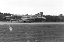 (Courtesy photo) During it's time at Hahn Air Base, Germany, the 50th Fighter-Bomber Wing converted older aircraft like the F-86 to newer designs like the F-4. The wing's crews also converted to the F-100 and F-104.