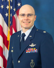 Lt. Col. Kevin Reigstad, 23rd Space Operations Squadron commander
