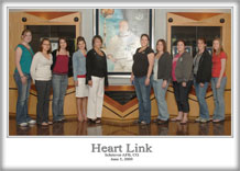 Schriever spouses receive a tour of the base during Schriever's Heart Link program June 5. Spouses received several briefings from 50th Space Wing agencies and toured the 3rd and 22nd Space Operations Squadrons.