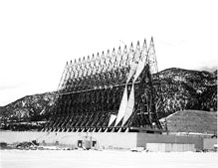 The unique design of the Cadet Chapel took shape starting in 1959. (File Photo)