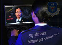 Every day, malicious code, worms, botnets and hooks attack Air Force computers hardware, software and the Internet. They infiltrate classified information and compromise national security. In response, the Air Force is stepping up its mission to defend cyberspace. (Air Force graphic)