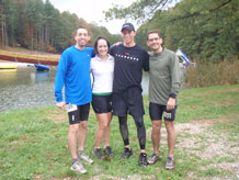 Captain Joseph Reveteriano, 1st Lt. Caitlyn Diffley, Capt. Stephen Toth and Airman 1st Class Cory Marion completed the five-event Wilderness Challenge in 8 hours, 38 minutes to claim sixth place out of 54 all-military teams.