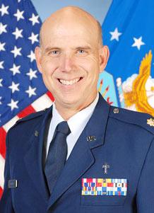 Chaplain (Maj.) Glenn Gresham, 50th Space Wing chaplain