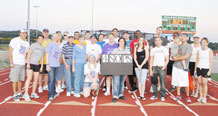 Twenty-six members of Schriever Air Force Base participated in the 17th Annual Central Colorado Springs Relay for Life. The team raised nearly $900 for the American Cancer Society and the fight against cancer. (U.S. Air Force Courtesy Photo)