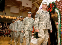 More than 100 Army Reserve Soldiers marched into the Special Events Center at Fort Carson Dec. 9, after providing almost a year of construction services in Iraq.