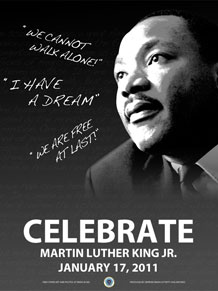 Peterson AFB will host a Martin Luther King Jr. commemorative service 11 a.m. to noon, Jan. 26, in the wing chapel. For more information call 556-7691. (U.S. Air Force graphic)
