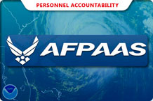 Airmen and family members displaced from their home stations because of a natural disaster or crisis should log into or call the Air Force Personnel Accountability and Assessment System to help leaders and personnel readiness managers account for their personnel and provide immediate assistance to those in need. (U.S. Air Force graphic)