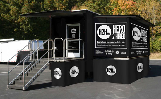 "(Courtesy photo)  The""Hero 2 Hired"" Mobile Job Store is scheduled to be at the Peterson Base Exchange parking lot (1030 E. Stewart Ave., building 2017) Nov. 12-13 from 10 a.m.-4 p.m."