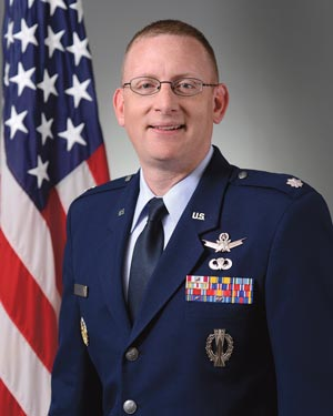 Lt. Col. Timothy Purcell 50th Operations Support Squadron commander