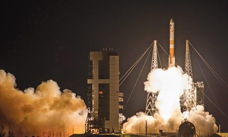 Courtesy photo/ULA The WGS-9 launch furthers the 50th Space Wing's mission of commanding space and cyber systems to deliver global combat effects by providing additional communications capabilities to both U.S. forces and international partners.