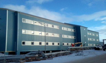 (Photo by U.S. Army Corps of Engineers) THULE AIR BASE, Greenland — Building 101, a new modern 48-person dormitory for housing unaccompanied enlisted personnel stationed at Thule.