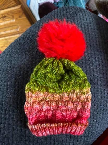 Myra Kness Doll Hat with Tuck Stitch 1