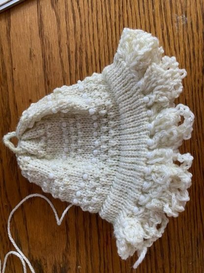 Myra Kness Beautiful Setup Bonnet Beaded with Tuck Stitch 1