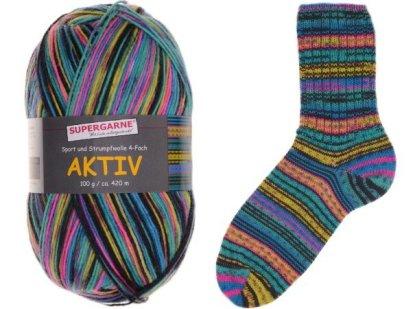 Aktiv Sock Yarn Bundle 3 100g skeins ZIG & ZAG 5