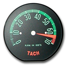 1960 Late, 1961 Early Hi RPM Tachometer Face