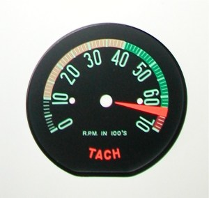1961 Late,1962 Early Hi RPM Tachometer Face