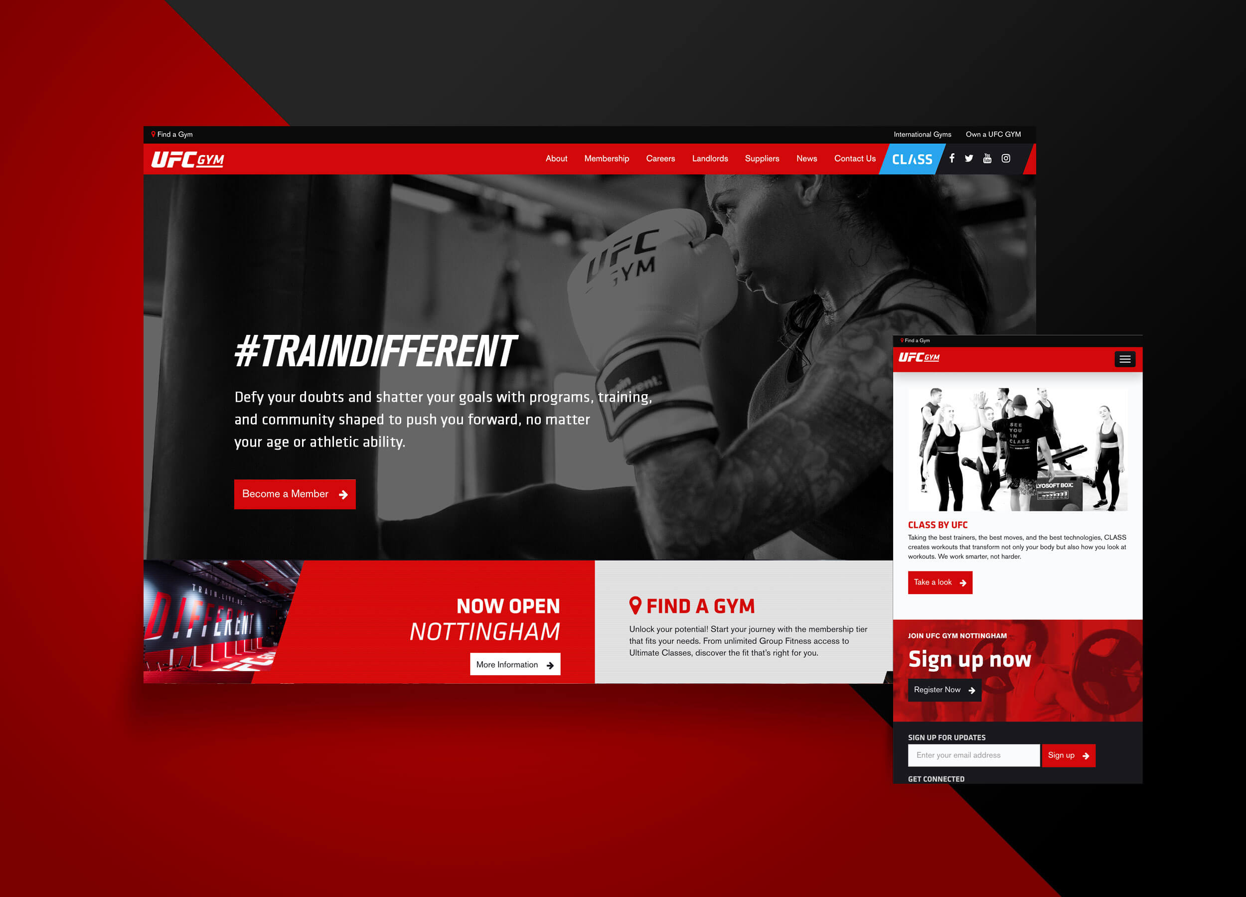 UFC Gym Web Design