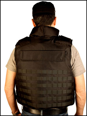 BulletSafe Alpha bulletproof vest - Rear View
